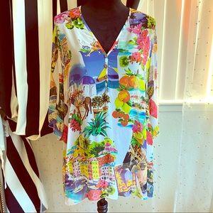 Doris Streich see through silk blouse